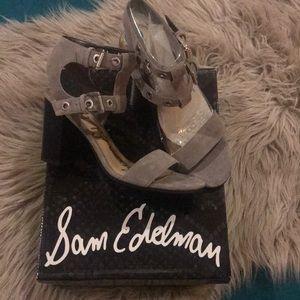 Sam Edelman Gray Strappy Heels